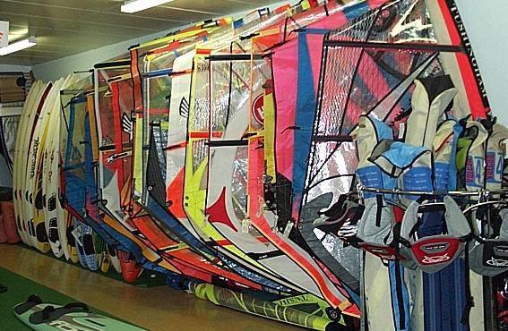 Windsurf and Kitesurf Gear Hire and Shops